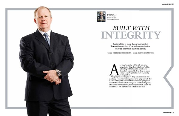 Andrew Briggs Managing Director of Buxton Construction