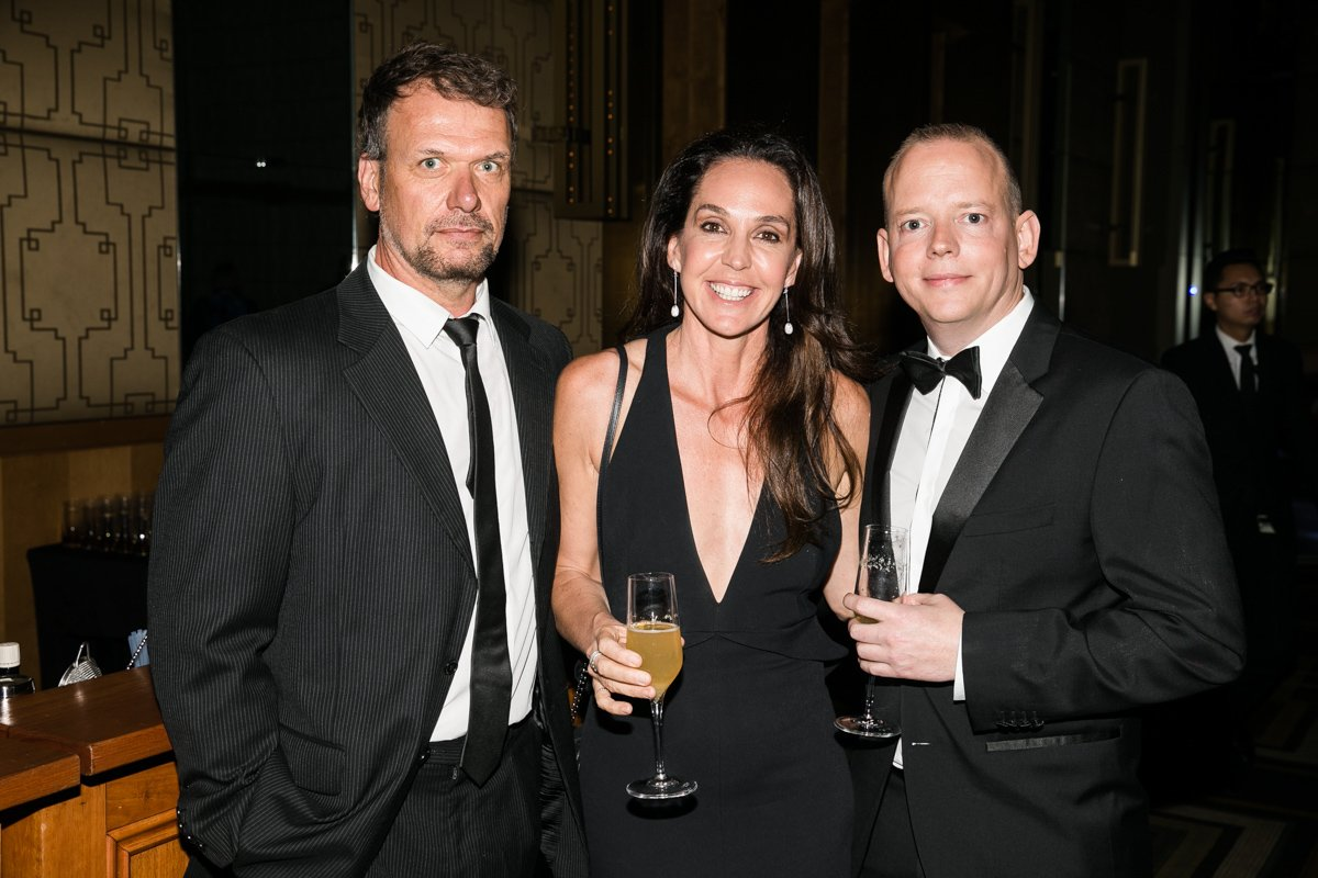 Boost Juice co-founders Jeff Allis and Janine Allis with Chris Dutton, Founder & CEO of The CEO Magazine