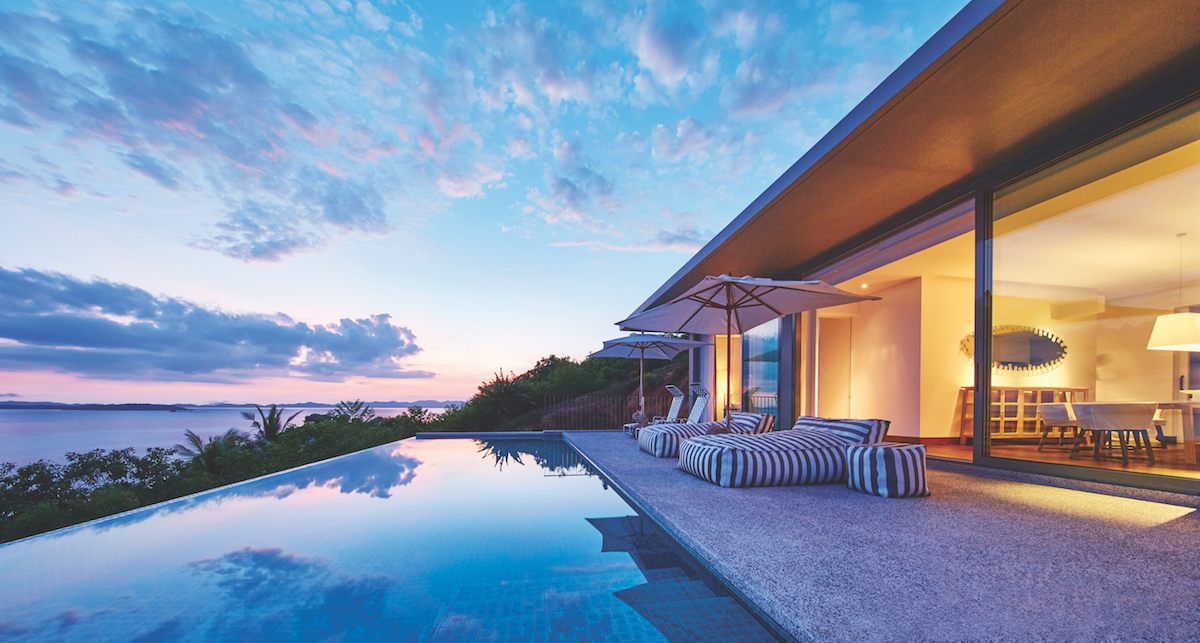 The private plunge pool from a COMO Point Yamu villa offers the perfect sunset vantage point.